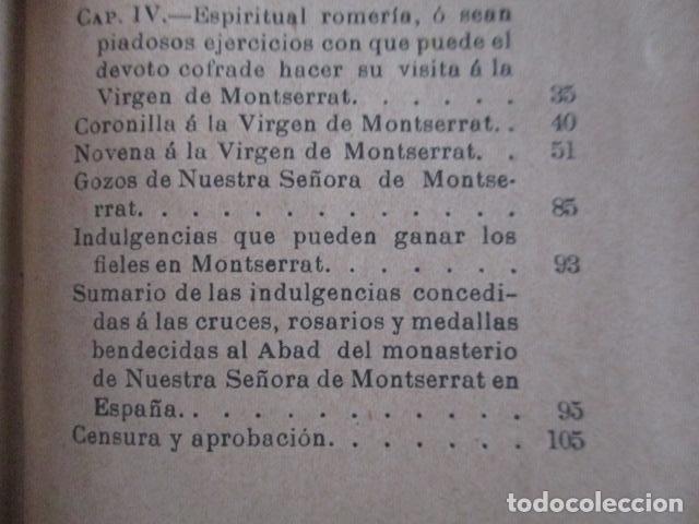 Libros antiguos: EL COFRADE DE MONTSERRAT - MANUALITO DE NOTICIAS HISTÓRICAS (1902) - Foto 13 - 166955868