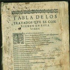 Libros antiguos: SUMMA DE LA THEOLOGIA MORAL, Y CANONICA. FR. ENRIQUE DE VILLALOBOS. Lote 167466080