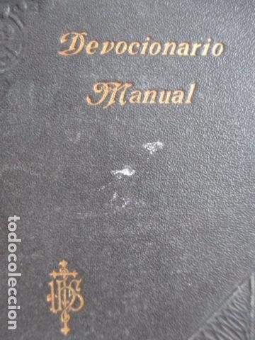 Libros antiguos: Devocionario Manual - Bilbao 1907 - Foto 2 - 167617120