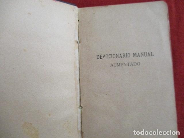 Libros antiguos: Devocionario Manual - Bilbao 1907 - Foto 5 - 167617120