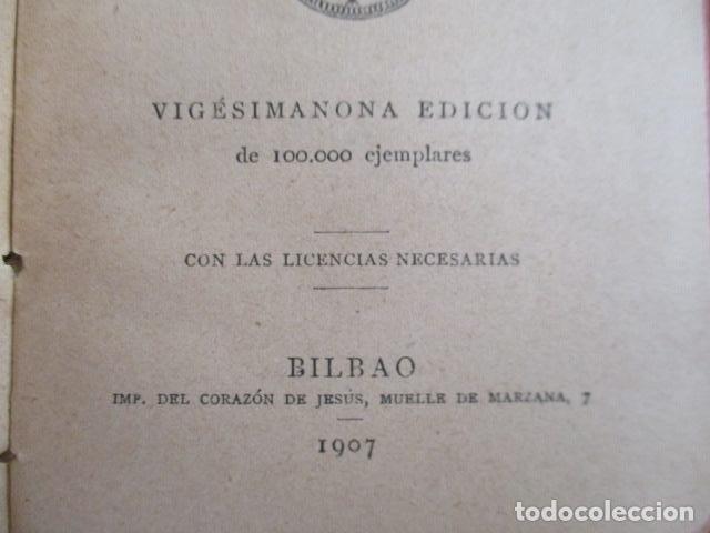 Libros antiguos: Devocionario Manual - Bilbao 1907 - Foto 8 - 167617120