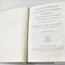 Libros antiguos: GUILLELMI ESTII . IN IV LIBROS SENTENTIARUM COMMENTARIA: QUIBUS PARITER S.THOMAE. TOMUS I. 1789. Lote 167850232
