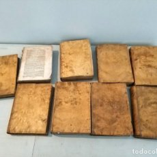 Libros antiguos: 9 TOMOS AÑO CHRISTIANO O EXERCICIOS DEVOTOS... ANTONIO DE SANCHA AÑO 1778. Lote 167863516