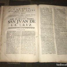 Libros antiguos: SAN JUAN DE LA CRUZ ILUSTRADO: OBRAS ESPIRITUALES SEVILLA, FRANCISCO DE LEEFDAEL, 1703 INCOMPLETO. Lote 167889064