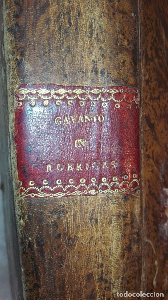 Libros antiguos: ANTIGUO LIBRO FORMATO GRANDE THESAURUS SACRORUM RITUUM.BARTHOLOMEO GAVANTO.VENECIA.1814 - Foto 2 - 168236776