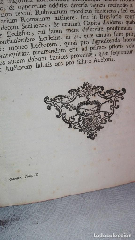 Libros antiguos: ANTIGUO LIBRO FORMATO GRANDE THESAURUS SACRORUM RITUUM.BARTHOLOMEO GAVANTO.VENECIA.1814 - Foto 13 - 168236776