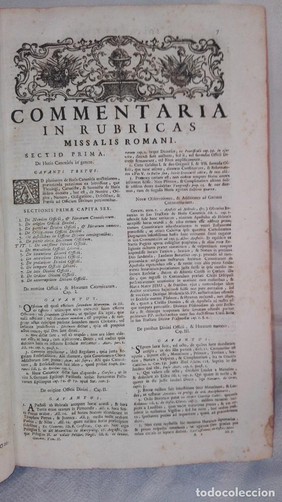 Libros antiguos: ANTIGUO LIBRO FORMATO GRANDE THESAURUS SACRORUM RITUUM.BARTHOLOMEO GAVANTO.VENECIA.1814 - Foto 16 - 168236776