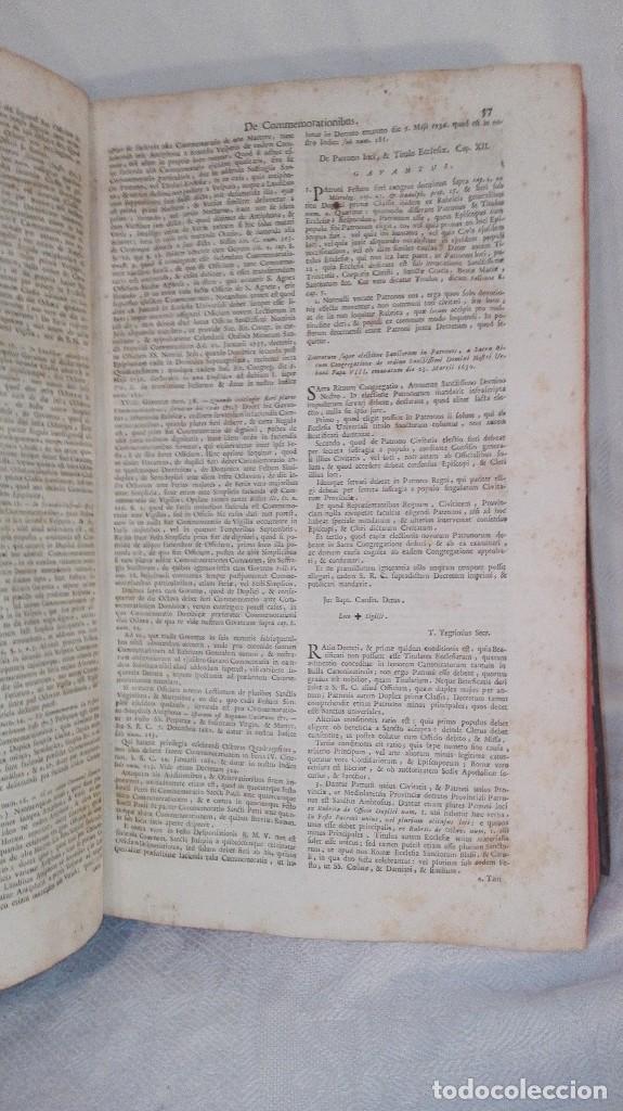 Libros antiguos: ANTIGUO LIBRO FORMATO GRANDE THESAURUS SACRORUM RITUUM.BARTHOLOMEO GAVANTO.VENECIA.1814 - Foto 17 - 168236776