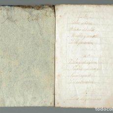 Libros antiguos: CUADERNO DE RELIGIÓN Y GRAMÁTICA MANUSCRITO POR PEDRO COLL PONS. AÑO ¿? (MENORCA.2.4). Lote 168318756