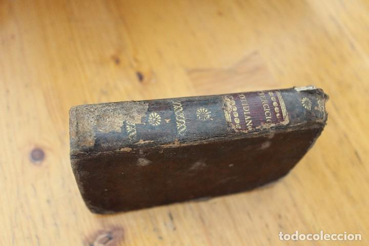 Libros antiguos: EJERCICIOS COTIDIANOS ENCUADERNADO EN PIEL CON 200 AÑOS - Foto 2 - 168718300
