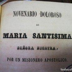 Old books - Novenario Doloroso de María Santísima año 1858 - 168954840