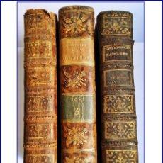 Libros antiguos: 3 LIBROS ANTIGUOS. 2 DEL SIGLO XVIII Y 1 DEL XIX. HISTORIA, RELIGIÓN. . Lote 168960656
