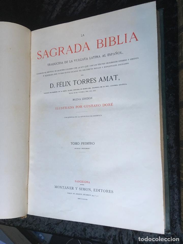 Libros antiguos: LA SAGRADA BIBLIA - ANTIGUO TESTAMENTO - 3 TOMOS -1883-84- ILUSTRADA POR DORE - PRECIOSA - - Foto 4 - 169157756