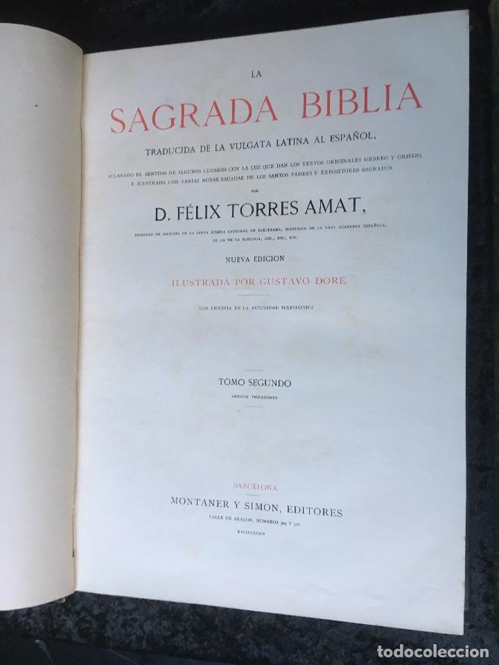 Libros antiguos: LA SAGRADA BIBLIA - ANTIGUO TESTAMENTO - 3 TOMOS -1883-84- ILUSTRADA POR DORE - PRECIOSA - - Foto 13 - 169157756