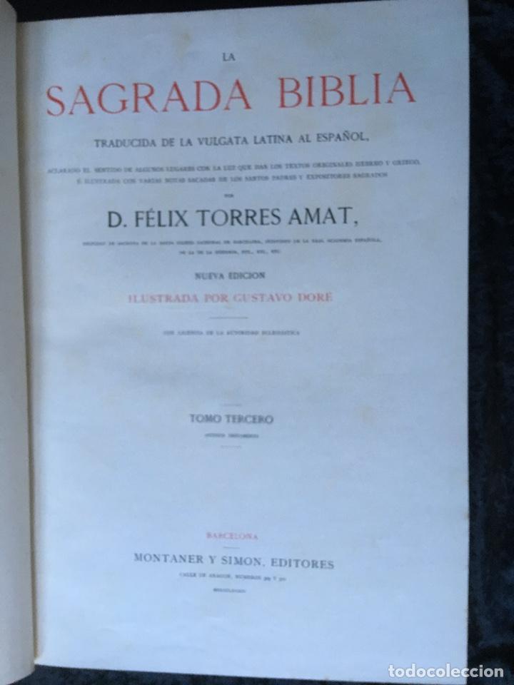 Libros antiguos: LA SAGRADA BIBLIA - ANTIGUO TESTAMENTO - 3 TOMOS -1883-84- ILUSTRADA POR DORE - PRECIOSA - - Foto 20 - 169157756