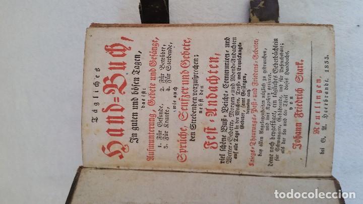 Libros antiguos: BAND BUCH IN GUTEN UND BOFER BAGEN ,BOR GABBATH 1855 EN ALEMÁN,TAPAS DE MADERA - Foto 6 - 169232352