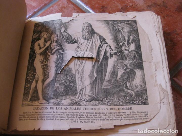 Libros antiguos: album de historia sagrada santa biblia en imagenes . julio schnorr litografias ramon tarrago 1887 - Foto 8 - 169796468