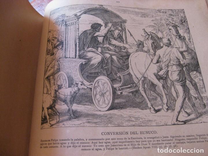 Libros antiguos: album de historia sagrada santa biblia en imagenes . julio schnorr litografias ramon tarrago 1887 - Foto 17 - 169796468