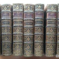 Libros antiguos: AÑO CRISTIANO. 1782. 9 DE 12 TOMOS. AÑO CHRISTIANO Ó EXECICIOS DEVOTOS. Lote 137231838