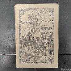 Livros antigos: ALMANAQUE DE LAS MISIONES DE FERNANDO PÓO 1922. Lote 170231045