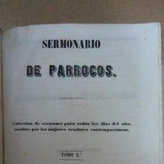 Livres anciens: 23027 - SEMINARIO DE PARROCOS - TOMO II - 2ª EDICION - AÑO 1856. Lote 170703755