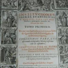 Libros antiguos: (MF) FR. FRANCISCO GÀÇO - INSTITUCIONES SACRAS, EVANGELICAS Y MORALES AÑO 1610 (ORIGINAL). Lote 170704345