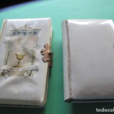 Libros antiguos: DEVOCIONARIOS PARA NIÑOS CON TAPAS DE CELULOIDE. Lote 170853655