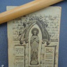 Livres anciens: PEQUEÑO OFICIO EN HONOR DE LA INMACULADA CONCEPCION. AÑO 1901. Lote 170858860