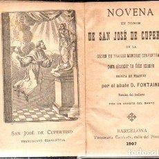 Libros antiguos: NIOVENA DE SAN JOSÉ DE COPERTINO (1907). Lote 170975307