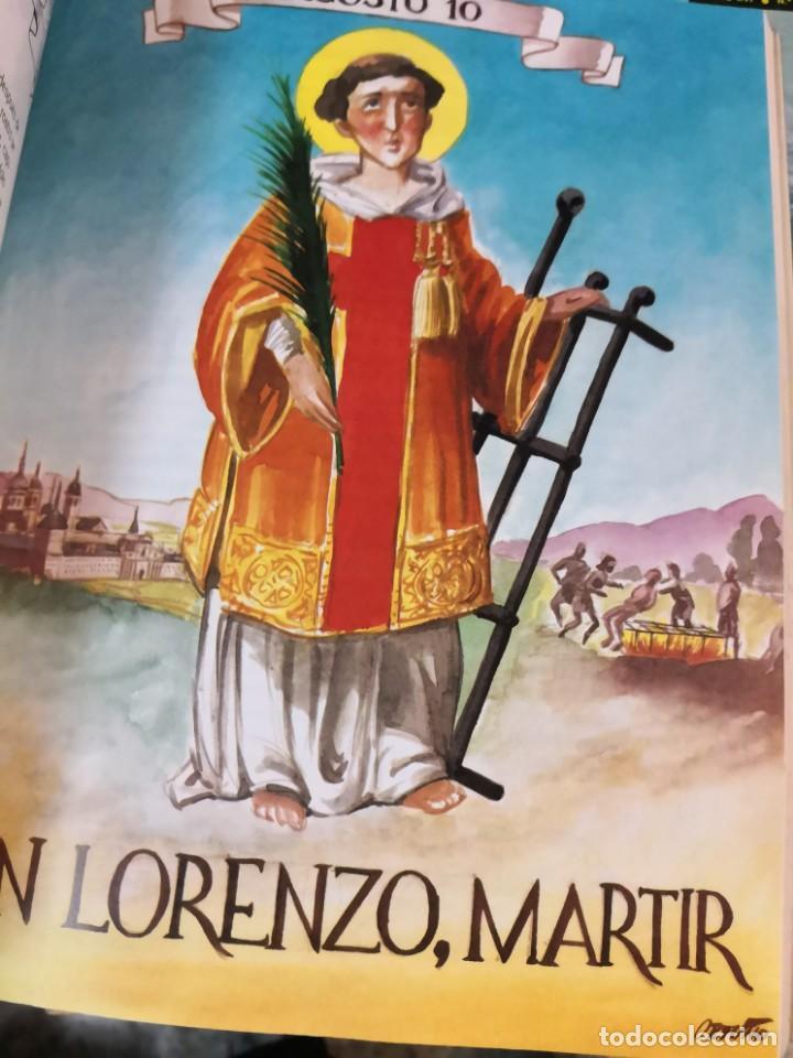 Libros antiguos: EL SANTORAL DE LVIS Luís CAARANDELL. DIBUJOS ORTUÑO. MAEAVA. 1996 407 PAG - Foto 8 - 171296632