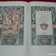 Libros antiguos: (M4.9) KEMPIS - LA IMATACIO DE JESUCRIST DEL VENERABLE TOMAS DE KEMPIS, R MIQUEL I PLANAS 1911. Lote 171310978