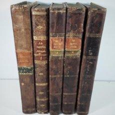Libros antiguos: LA SANTA BIBLIA. 5 TOMOS. FELIPE SCIO. EDITORES GASPAR Y ROIG. MADRID. 1852/54.. Lote 171406373