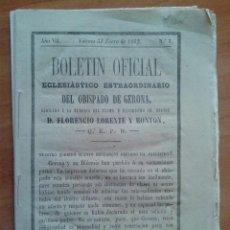 Libros antiguos: 1862 BOLETÍN OFICIAL ECLESIATICO EXTRAORDINARIO DEL OBISPADO DE GERONA. Lote 171416023