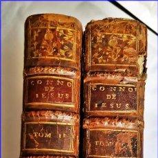 Libros antiguos: AÑO 1762: DEL CONOCIMIENTO DE JESUCRISTO. 2 TOMOS DEL SIGLO XVIII.. Lote 171630827