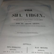 Libros antiguos: LIBRO VIDA SMA VIRGEN AÑO 1854.. Lote 171717399