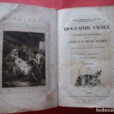 Libros antiguos: EUGENIO DE GENOUDE.-BIOGRAFIA SACRA.-HISTORIA PERSONAJES ANTIGUO Y NUEVO TESTAMENTO.BIBLIA.-AÑO 1844. Lote 172015580