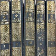 Libros antiguos: AÑO CRISTIANO. JUSTO PEREZ DE URBEL. EDICIONES FAX. OBRA EN 5 TOMOS. MADRID, 1933-1934.. Lote 172068953