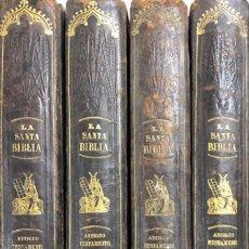 Libros antiguos: LA SANTA BIBLIA. FELIPE SCIO DE SAN MIGUEL. OBRA EN 4 TOMOS. LIBRERIA RELIGIOSA. BARCELONA, 1852. . Lote 172070045