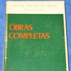 Libros antiguos: SANTA TERESA DE JESÚS - OBRAS COMPLETAS - BIBLIOTECA DE AUTORES CRISTIANOS - 2ª EDICIÓN (1967). Lote 172249387