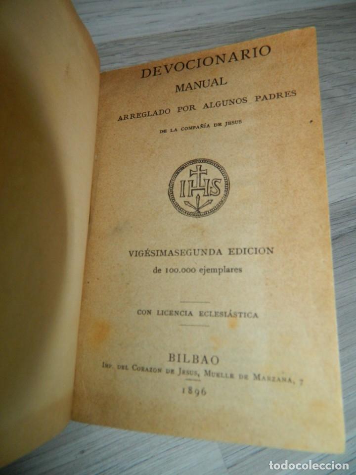 1896 DEVOCIONARIO MANUAL (Libros Antiguos, Raros y Curiosos - Religión)