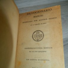 Libros antiguos: 1896 DEVOCIONARIO MANUAL. Lote 172260792