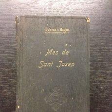Libros antiguos: MES EN HONOR DEL PATRIARCA SANT JOSEP, TORRAS I BAGES, DR. D. JOSEP, 1919. Lote 172342009