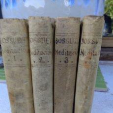 Libros antiguos: MEDITACIONES 4 TOMOS 1779 BENIGNO BASSUET. Lote 172414993