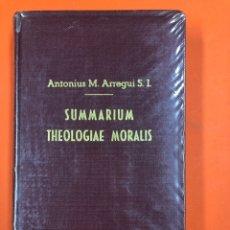 Libros antiguos: SUMMARIUM THEOLOGIAE MORALIS - A. M. ARREGUI - MENSAJERO CORAZON DE JESUS 1952. Lote 173592993