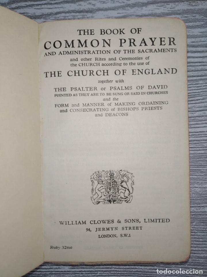Libros antiguos: La Biblia, limitada, William Clowes & sons 1912 - Foto 4 - 173588945