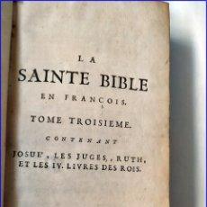 Libros antiguos: LA SANTA BIBLIA. SIGLO XVIII.. Lote 173807543