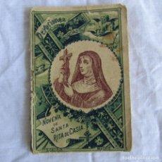 Libros antiguos: NOVENA DE SANTA RITA DE CASIA ED. CALLEJA MADRID. Lote 296804253