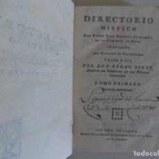 Libros antiguos: LIBRERIA GHOTICA. DIRECTORIO MÍSTICO DE JUAN BAUTISTA SCARAMELI. 1797. TOMO I.FOLIO MENOR.. Lote 173998790