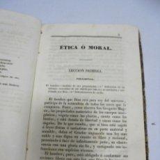 Libros antiguos: MORAL Y RELIGION. 136 PAGINAS. FALTA FRONTIS. SALVADOR MESTRES. VER. Lote 174054447