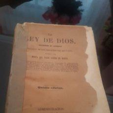Libros antiguos: LA LEY DE DIOS COLECCIÓN DE LEYENDAS QUINTA EDICIÓN. Lote 174149919
